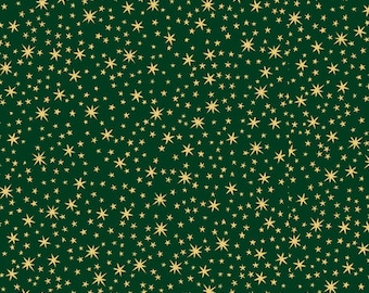 Quilting Treasures-Holiday Metal Stars-23544 F-CT122234-100% Quality Cotton by the Yard or Yardage