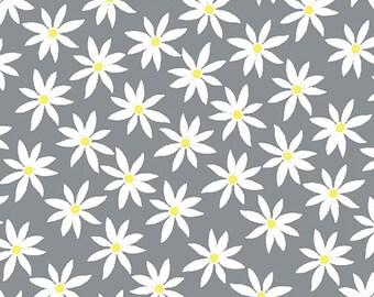 Kanvas Studios -Lemon Twist- Daisy Dot Gray/Lemon-8407 11-CT121992-100% quality cotton