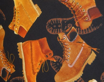 Work Boots Fabric - Man Cave II by Kanvas - CT114989 100% Quality Cotton by the Yard