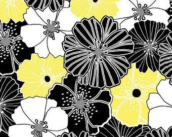 Kanvas Studios -Lemon Twist- Packed Poppies Lemon-8408 33-CT121979-100% quality cotton