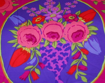 Kaffe Fassett Floral Fabric - Cameo PWPGP 157 Wine  - Phillip Jacobs for Rowan - CT 118855 100% Quality Cotton by the Yard or Yardage