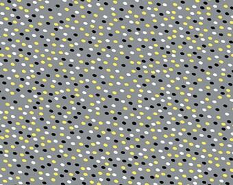 Kanvas Studios -Lemon Twist-It's a Dot Gray/Lemon-8410 11-CT121986-100% quality cotton