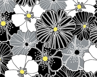 Kanvas Studios -Lemon Twist- Packed Poppies Gray/Yellow-8408 11-CT121980-100% quality cotton