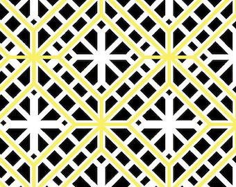 Kanvas Studios -Lemon Twist-Geo Trellis White/Lemon-8409 09-CT121993-100% quality cotton