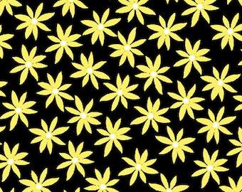 Kanvas Studios -Lemon Twist- Daisy Dot Black/Lemon-8407 33-CT121981-100% quality cotton