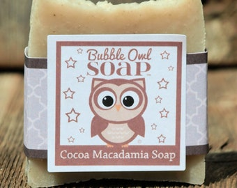 Cocoa Macadamia Soap (Unscented / No added Dyes)