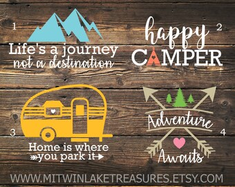 Camping decal | Etsy