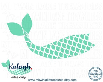Mermaid Tail SVG, Instant & Digital Download, For Silhouette and Cricut, PNG, Studio.3, DIY, Personal and Commercial Use, Summer, Beach, 031
