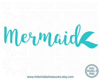 Mermaid Tail SVG, Instant & Digital Download, For Silhouette and Cricut, PNG, Studio.3, DIY, Personal and Commercial Use, Summer, Beach, 036