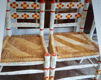 """Set of 2 Adult Matching  Mexican Chairs. """"Very Rare"""" Local Pick-Up"""
