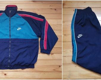 e05b12be4c Vtg NIKE suit windbreaker jacket pants joggers • 80s 90s Hip hop Rap Vintage  Retro Old school   Adidas Jordan Hilfiger Kappa Gosha   size L
