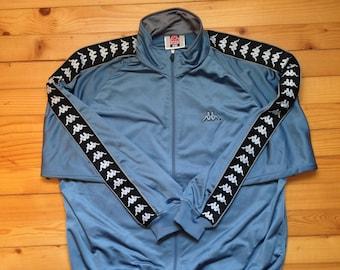 f25a742b9f0 Vtg KAPPA track jacket • windbreaker   80s 90s Hip hop Rap Vintage Retro Old  school  Nike Adidas Gosha Hilfiger Gucci pants Versace  size XL