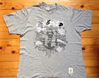 40c2094e877 Vtg ECKO GRAFFITI t-shirt tee shirt • 80s 90s Hip hop Rap Vintage Retro Old  school   Nike Adidas Kani Fubu Hilfiger Gucci Kappa Es   size L