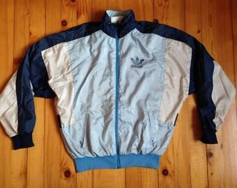 98879116307 Vtg ADIDAS distressed windbreaker jacket • 80s 90s Hip hop Rap Vintage Retro  Old school   Nike Hilfiger Kappa Gucci Kani Starter   size M