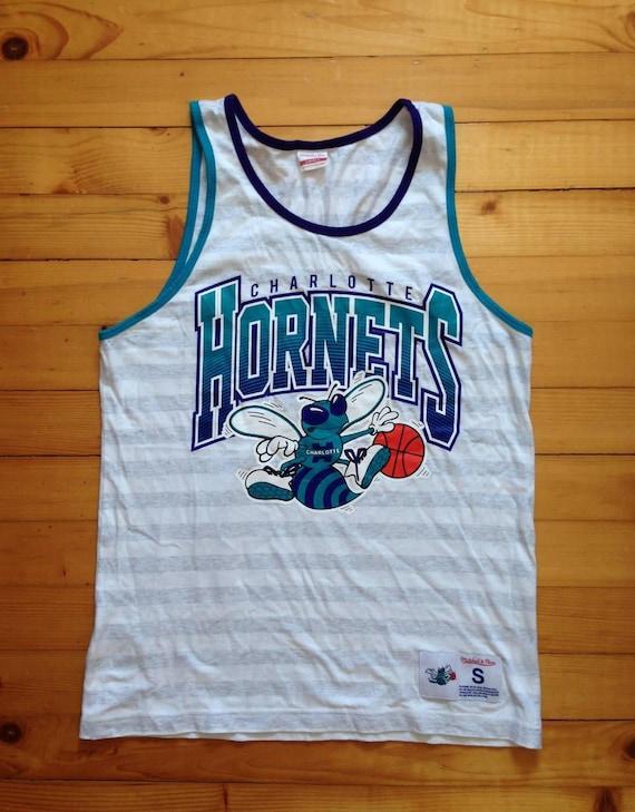 the best attitude 9c85e 40724 old school charlotte hornets jersey
