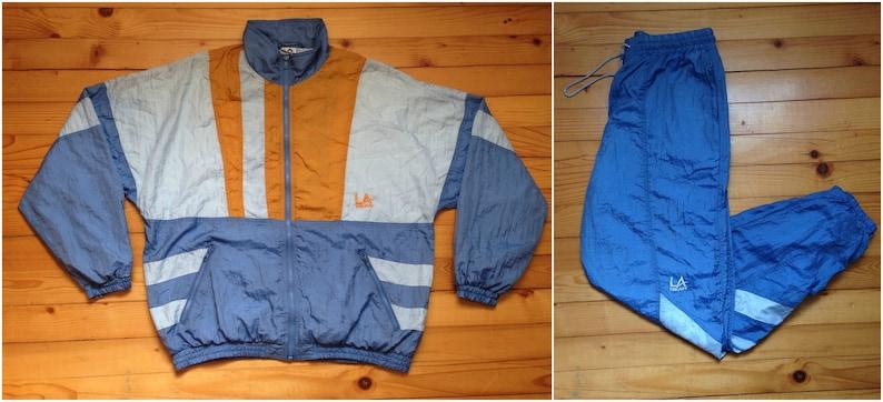 a3fc391f01e42a Vtg LA GEAR windbreaker suit jacket jogger pants 80s 90s Hip