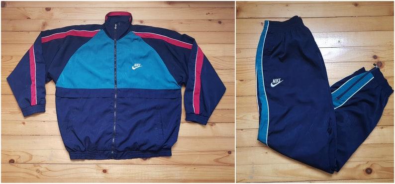 e8e953c5309a9a Vtg NIKE suit windbreaker jacket pants joggers 80s 90s Hip