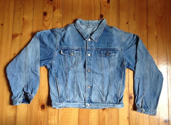 b51b76dccc9 BiG SALE Vtg ROUNDER denim jacket jeans coat bomber 80s 90s