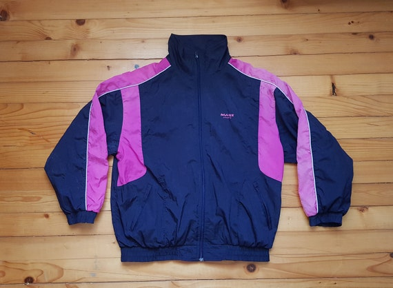 bcef3a17fb2 Vtg Multicolour windbreaker jacket 80s 90s Hip hop Rap | Etsy