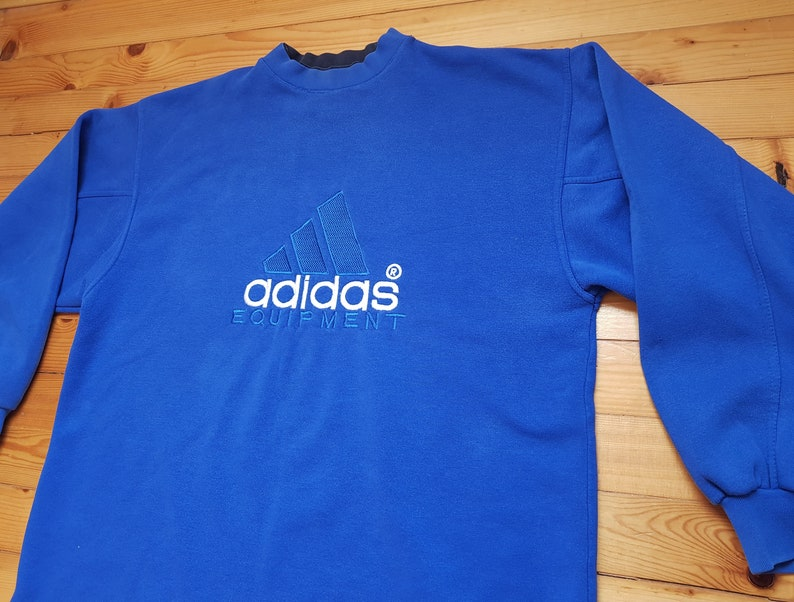 a6b4ed2e144 Vtg ADIDAS EQUIPMENT sweatshirt 80s 90s Hip hop Rap Vintage
