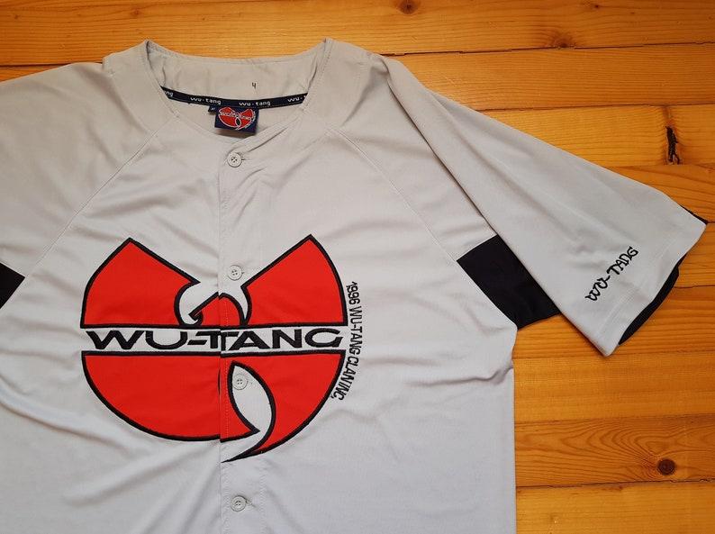 788d7d69049 Vtg WU TANG Clan baseball jersey shirt 80s 90s Hip hop Rap