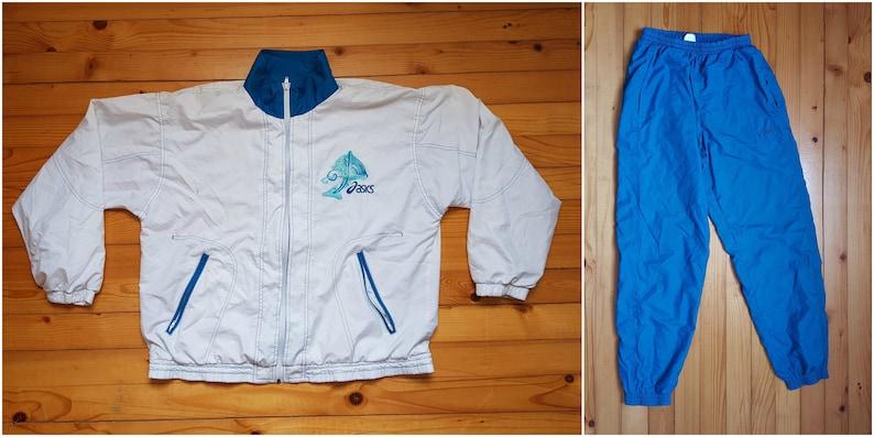 657422cd01f468 Vtg ASICS suit windbreaker jacket pants joggers 80s 90s Hip