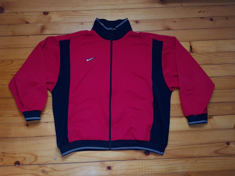 7df4b804686 Vtg NIKE track jacket windbreaker 80s 90s Hip hop Rap | Etsy