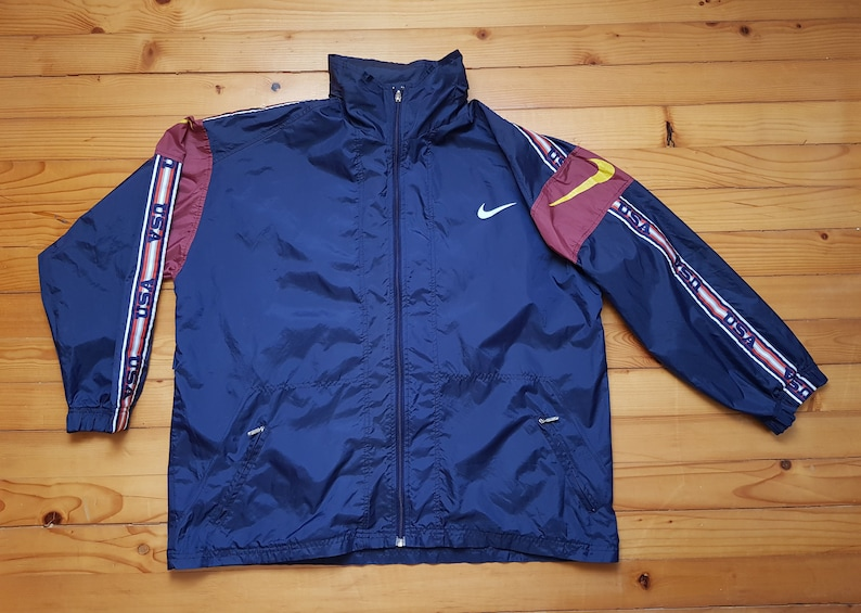 df276637b82 Vtg NIKE USA windbreaker jacket 80s 90s Hip hop Rap Vintage | Etsy