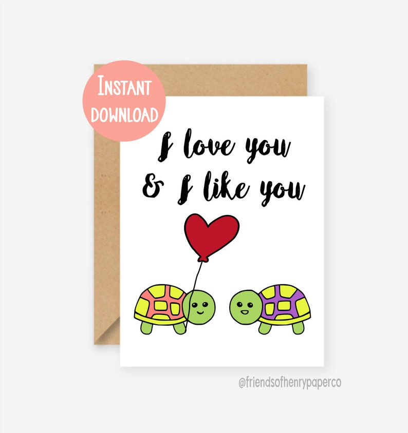 photograph relating to I Love You Printable Cards referred to as Printable card, humorous appreciate card, I appreciate by yourself and I together with yourself, amusing turtle card, parks and sport card, amusing birthday card, anniversary