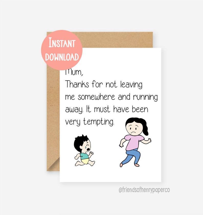 picture about Printable Funny Mothers Day Cards identify Printable, amusing Mum card, amusing moms working day card, humorous mother birthday card, mum birthday card, card for mum, thank by yourself mum, birthday card