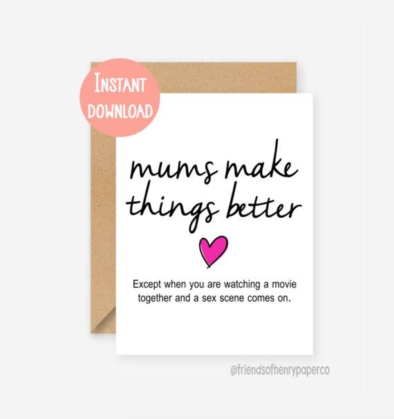 Printable Card Funny Birthday For Mum Mom