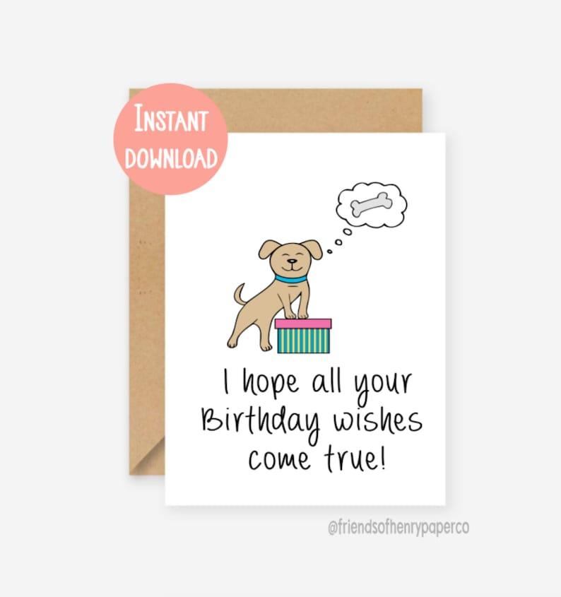 Printable Funny Birthday Card Dog Boyfriend