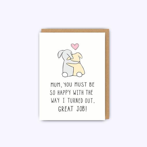 Phenomenal Funny Birthday Card For Mum Mom Cards Funny Greeting Card Etsy Personalised Birthday Cards Bromeletsinfo