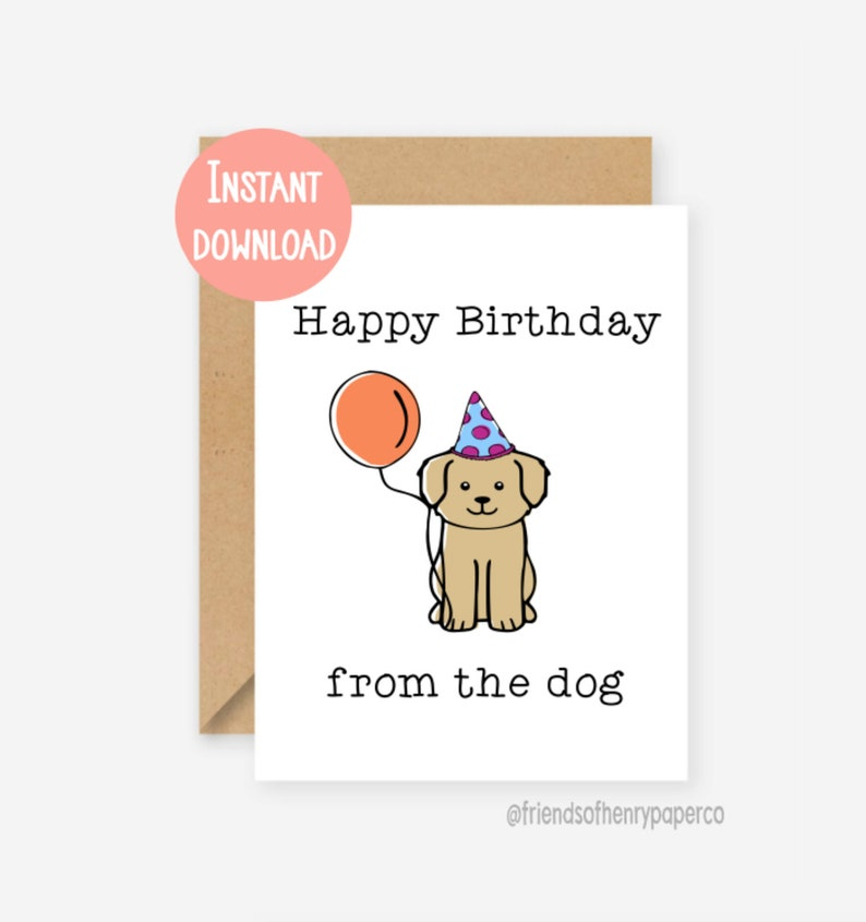 Printable Card Funny Dog Birthday Happy From