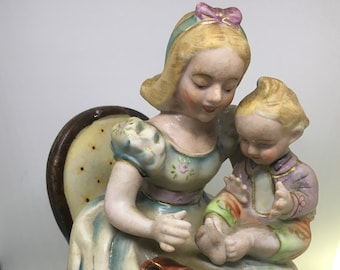Vintage Shafford China Figurine Mother with Baby in Lap