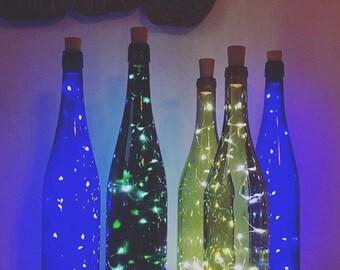 Fairy Lights Wine Bottle