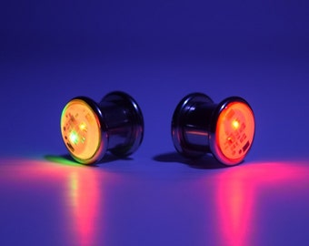 1024d46d6 LED Light up Ear Gauge Plug (Size: 8mm - 5/16