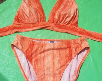 Ladies Sessa Orange Tie Dye Bikini size 12