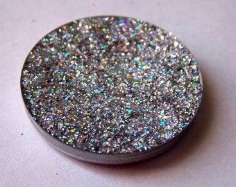 GRAVY ~ holographic silver glitter eyeshadow, eye glitter, holographic cruelty free makeup, duochrome eyeshadow, vegan makeup, gift for her