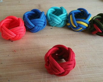 Red White And Blue Woggle Neckerchief Slide Handmade by Eagle Scout USA BSA