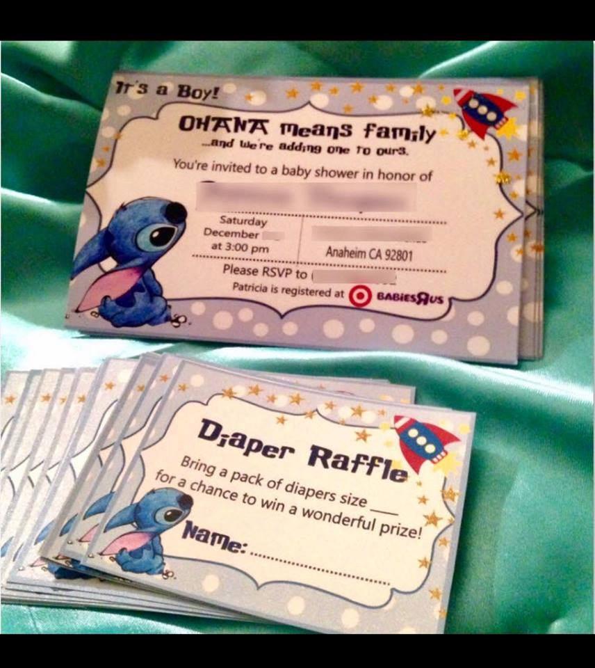 Cute Lilo Stitch Baby Shower Invitations Etsy