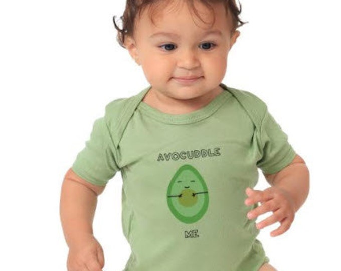Avocuddle Me Organic Cotton Avocado bodysuit