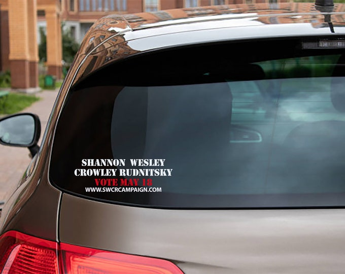 Shannon Wesley Crowley Window cling