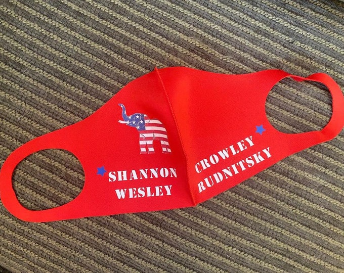 Shannon Wesley Crowley Rudnitsky Campaign Face Mask