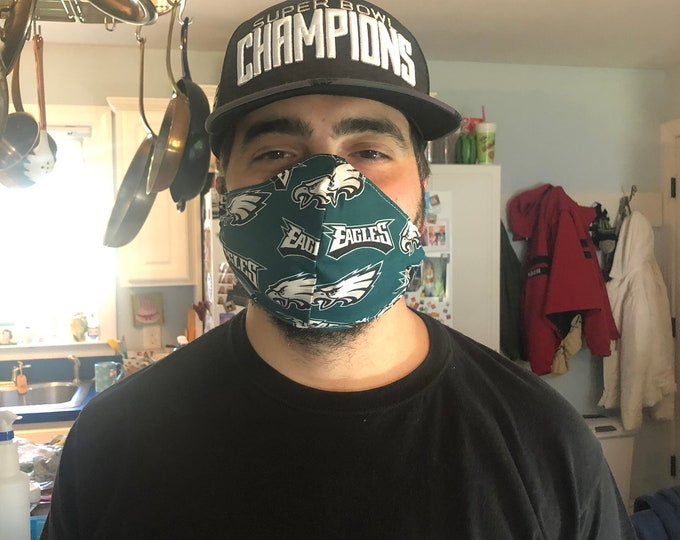 Mens mask with filter pocket and nose wire