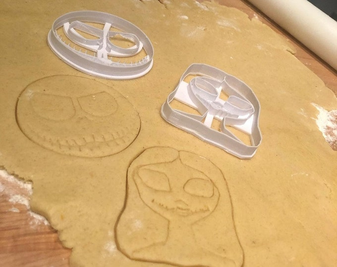 Jack and Sally Cookie Cutters Inspired by Nightmare Before Christmas