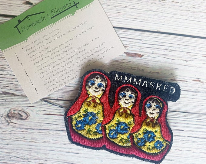 MMMasked dolls patch -The Masked Singer Russian Dolls iron on patch