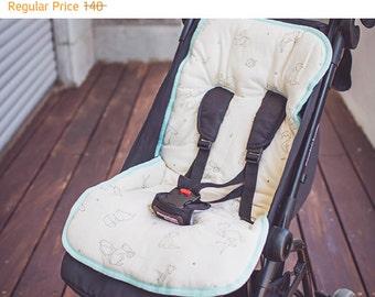 Universal stroller liner, organic cotton - universal pram liner - stroller seat liner - stroller pad - pram cover - stroller cover