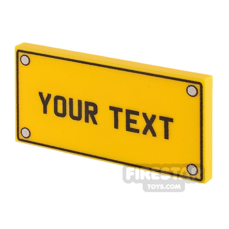 Personalised Car License Number Plate 2x4 Tile