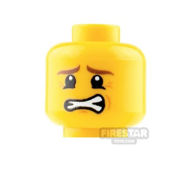 16 CUSTOM EMOJI PRINT YELLOW MINIFIGURE HEADS FITS LEGO TORSO NEW